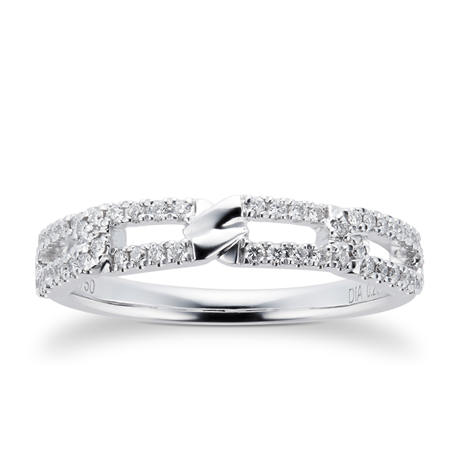 Harmony 18ct White Gold 0.20cttw Diamond Stacker Ring