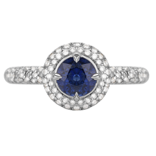 For Her - Platinum Sapphire and Diamond Sapphire Ring - M06110224