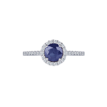 Carrington 18ct White Gold 6mm Sapphire and 0.30cttw Diamond Ring