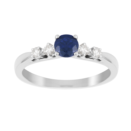 Carrington 18ct White Gold Sapphire Ring