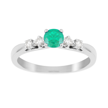 Carrington 18ct White Gold Emerald Ring
