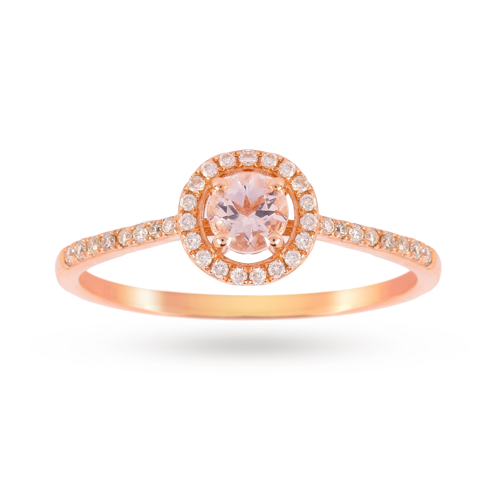 morganite kaplan halo gold oval arthur rose products diamond ring