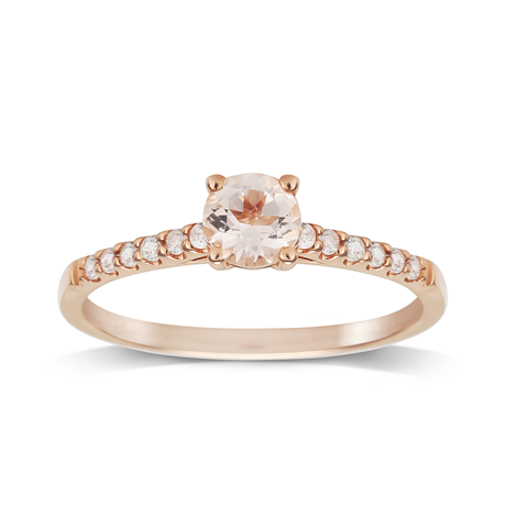 9ct Rose Gold Morganite Ring