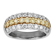 18ct Gold and Platinum 1.95ct Diamond Eternity Ring - Size M