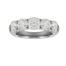 Mayors Platinum 2.16ct Cushion Cut Eternity Ring - Ring Size K