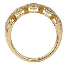 18ct Yellow Gold 1.84ct Oval Bezel Eternity Ring - Size L.5