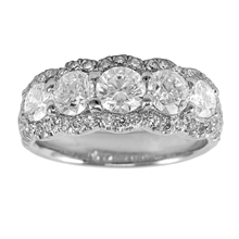 Mayors Platinum 2.30ct Brilliant Cut Eternity Ring - Ring Size M