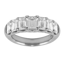 Mayors Platinum 2.46ct Emerald Cut Eternity Ring - Ring Size M
