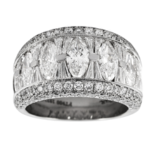 Mayors Platinum 4.04ct Marquise Cut Eternity Ring - Ring Size M