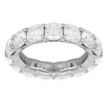 Platinum 6.42ct Cushion Cut Eternity Ring - Size K