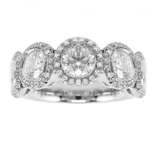 Platinum 2.67ct Brilliant Cut Eternity Ring - Size L