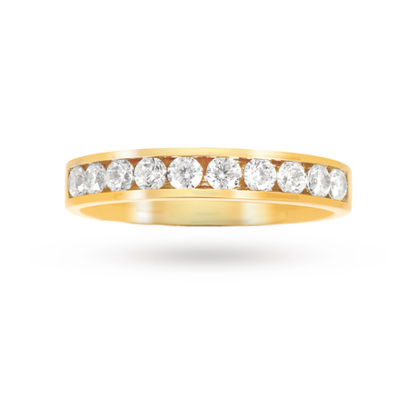 0.50 Total Carat Weight Brilliant Cut Diamond Eternity Ring In 9 Carat Yellow Gold