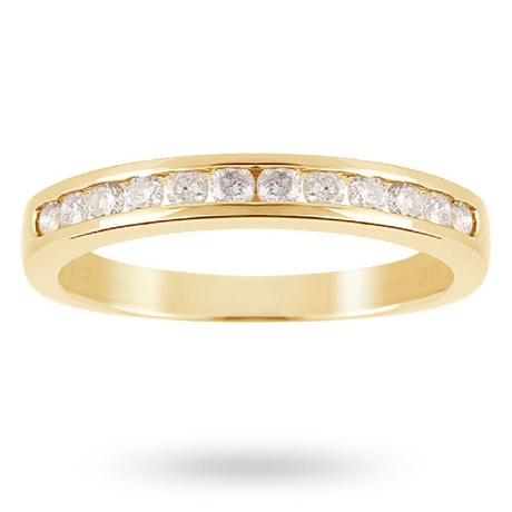 Brilliant Cut 0.50ct Channel Set Half Eternity Ring In 9ct Yellow Gold