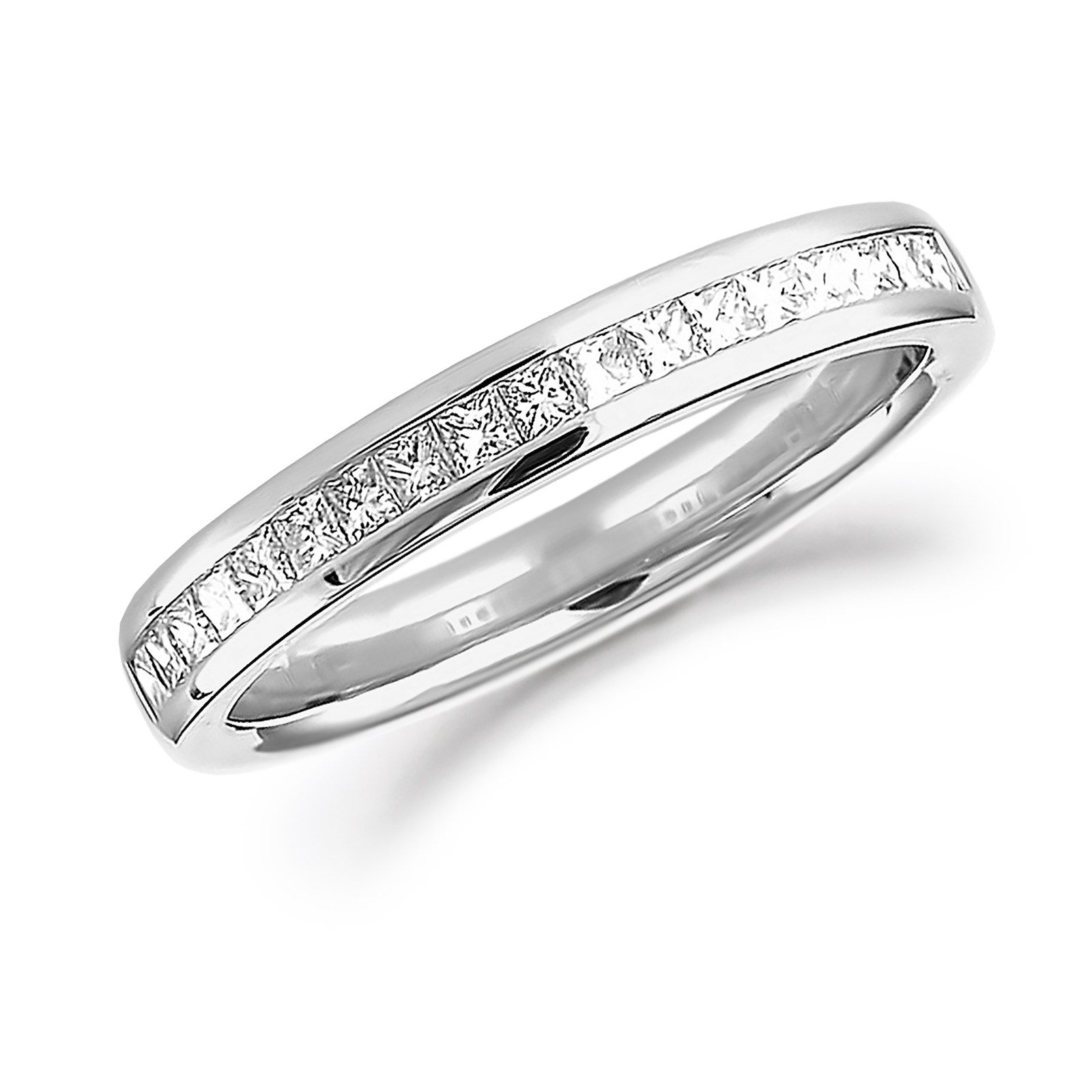 bands platinum channel in band eternity cut set anniversary princess zoom diamond
