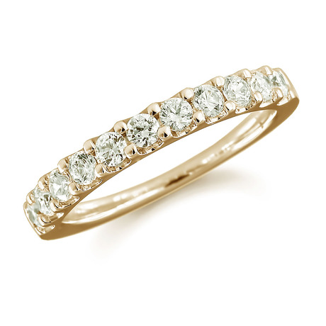 18ct Yellow Gold 0.50ct Claw Set Half Eternity Ring