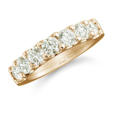 For Her - Mappin & Webb 18ct Yellow Gold 1.30ct Claw Set Half Eternity Ring - M06503560
