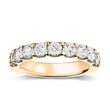 Mappin & Webb 18ct Yellow Gold 1.30ct Claw Set Half Eternity Ring