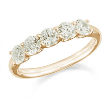18ct Yellow Gold 1.50ct Five Stone Eternity Ring