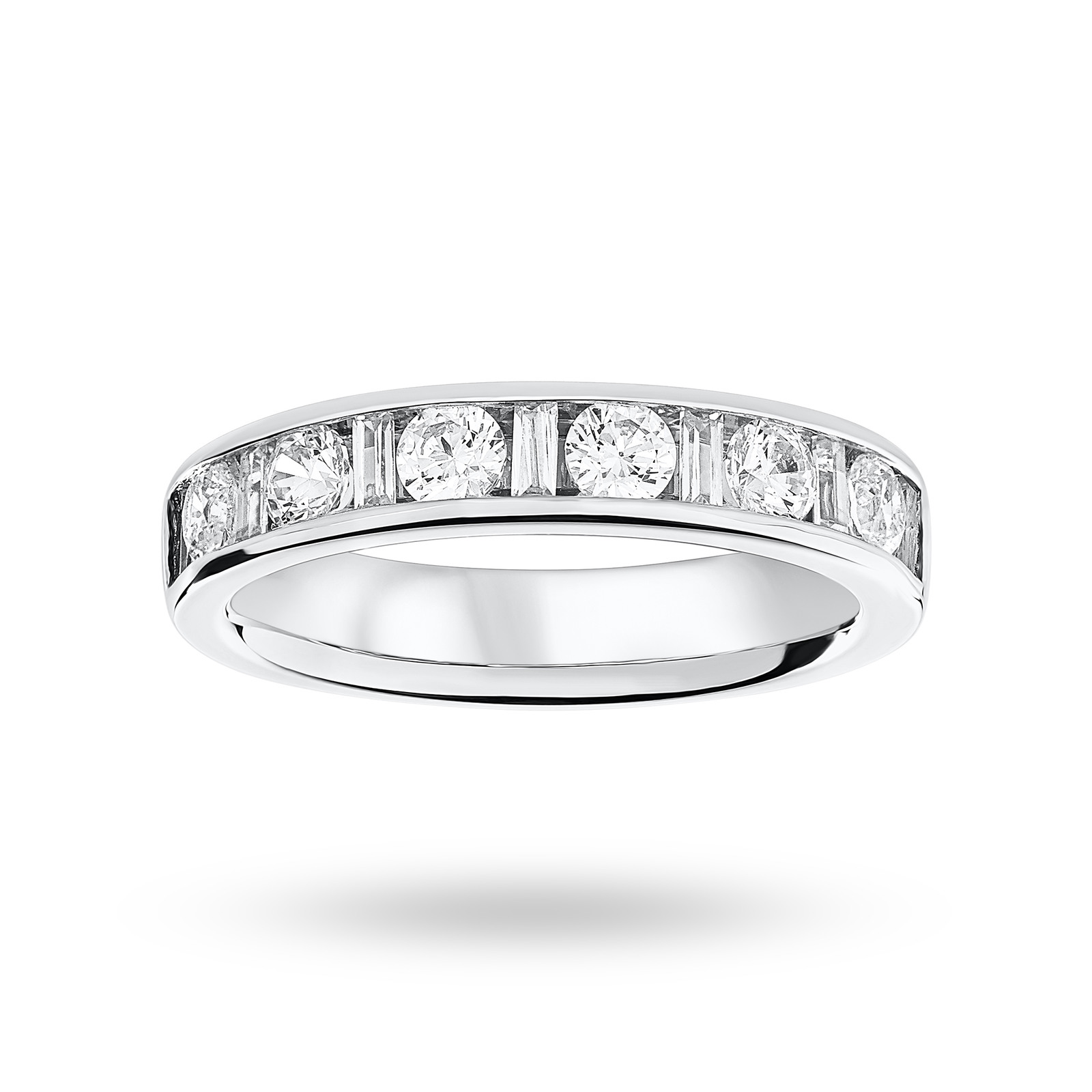 Platinum 1.00 Carat Dot Dash Half Eternity Ring