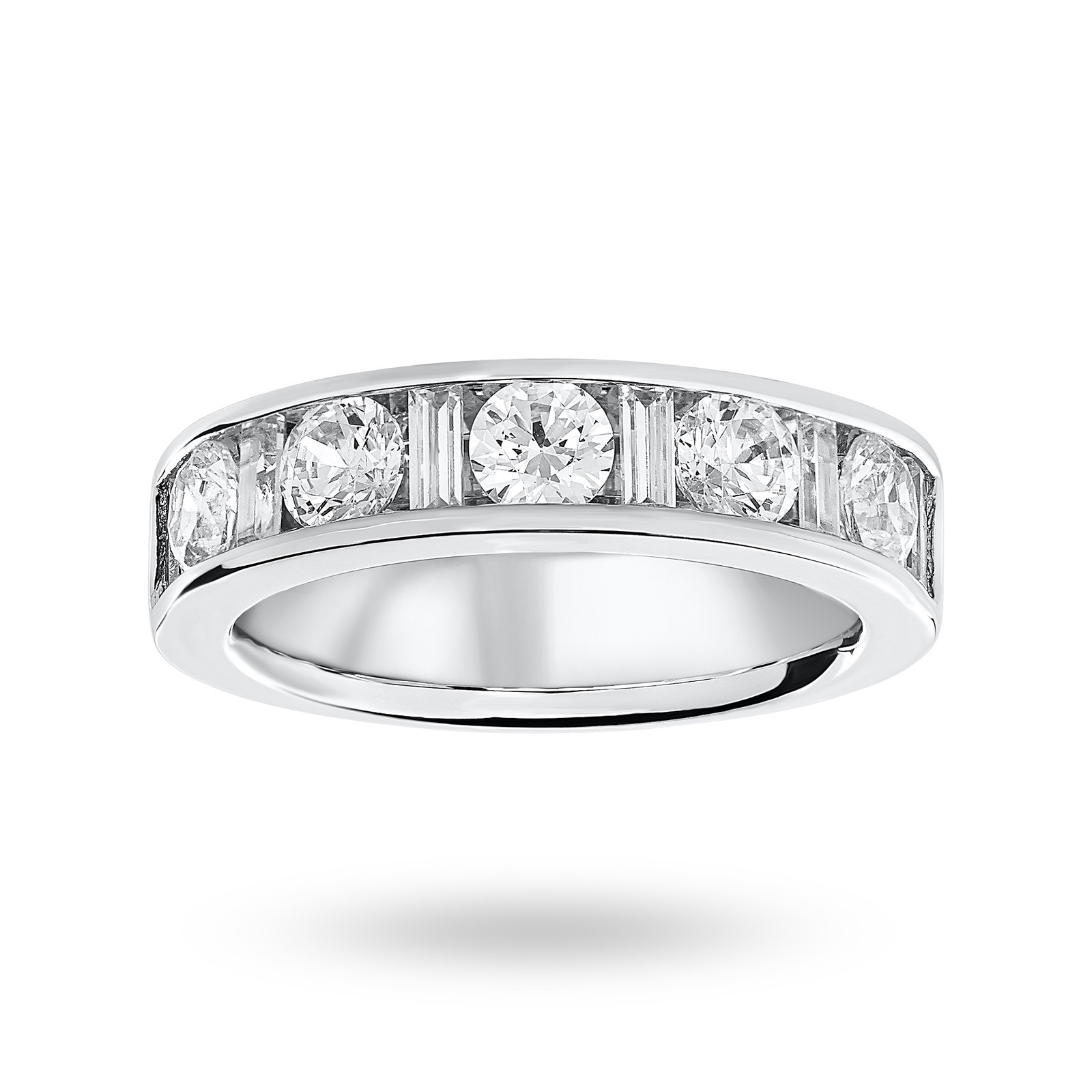Platinum 1.45 Carat Dot Dash Half Eternity Ring