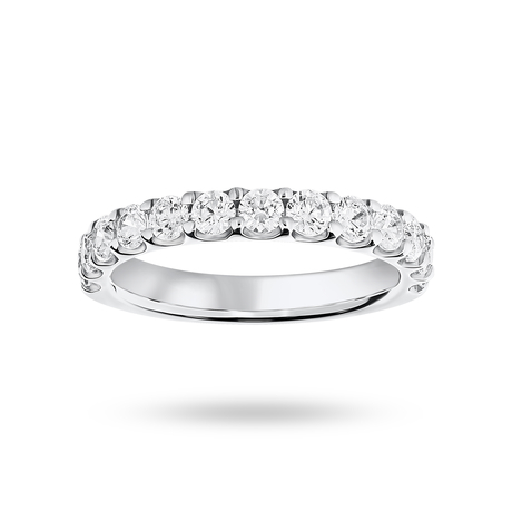 18 Carat White Gold 1.00 Carat Brilliant Cut Half Eternity