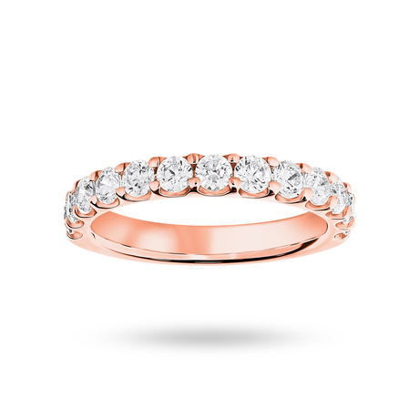 9 Carat Rose Gold 1.00 Carat Brilliant Cut Half Eternity