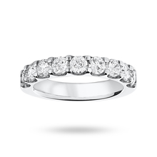 Platinum 1.45 Carat Brilliant Cut Half Eternity