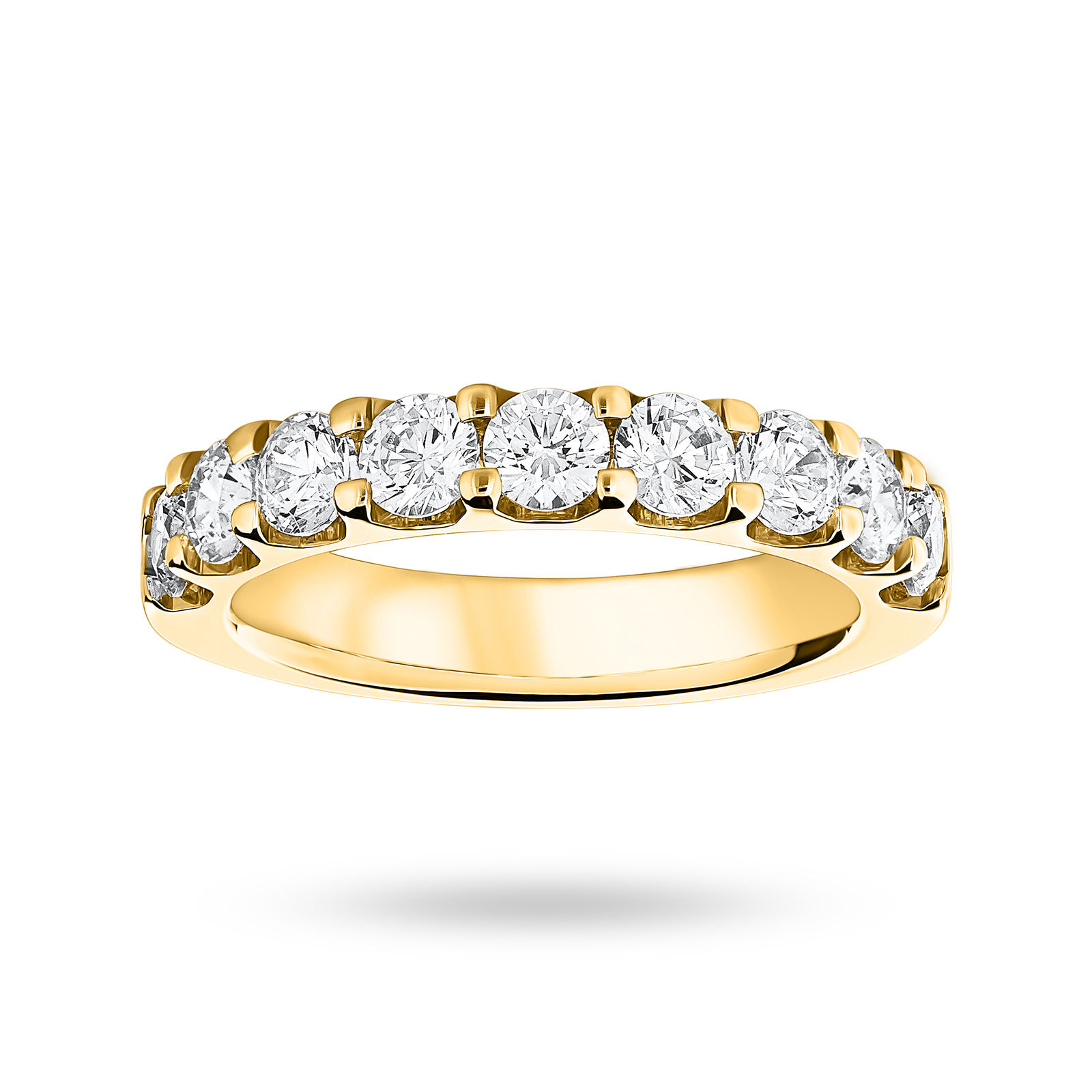 18 Carat Yellow Gold 1.45 Carat Brilliant Cut Half Eternity