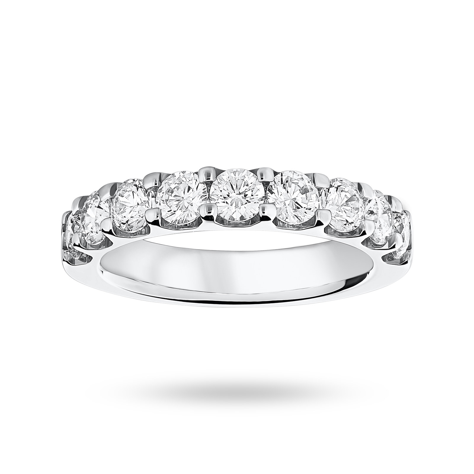 9 Carat White Gold 1.45 Carat Brilliant Cut Half Eternity