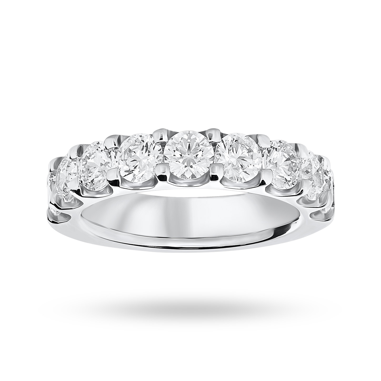 18 Carat White Gold 2.10 Carat Brilliant Cut Half Eternity
