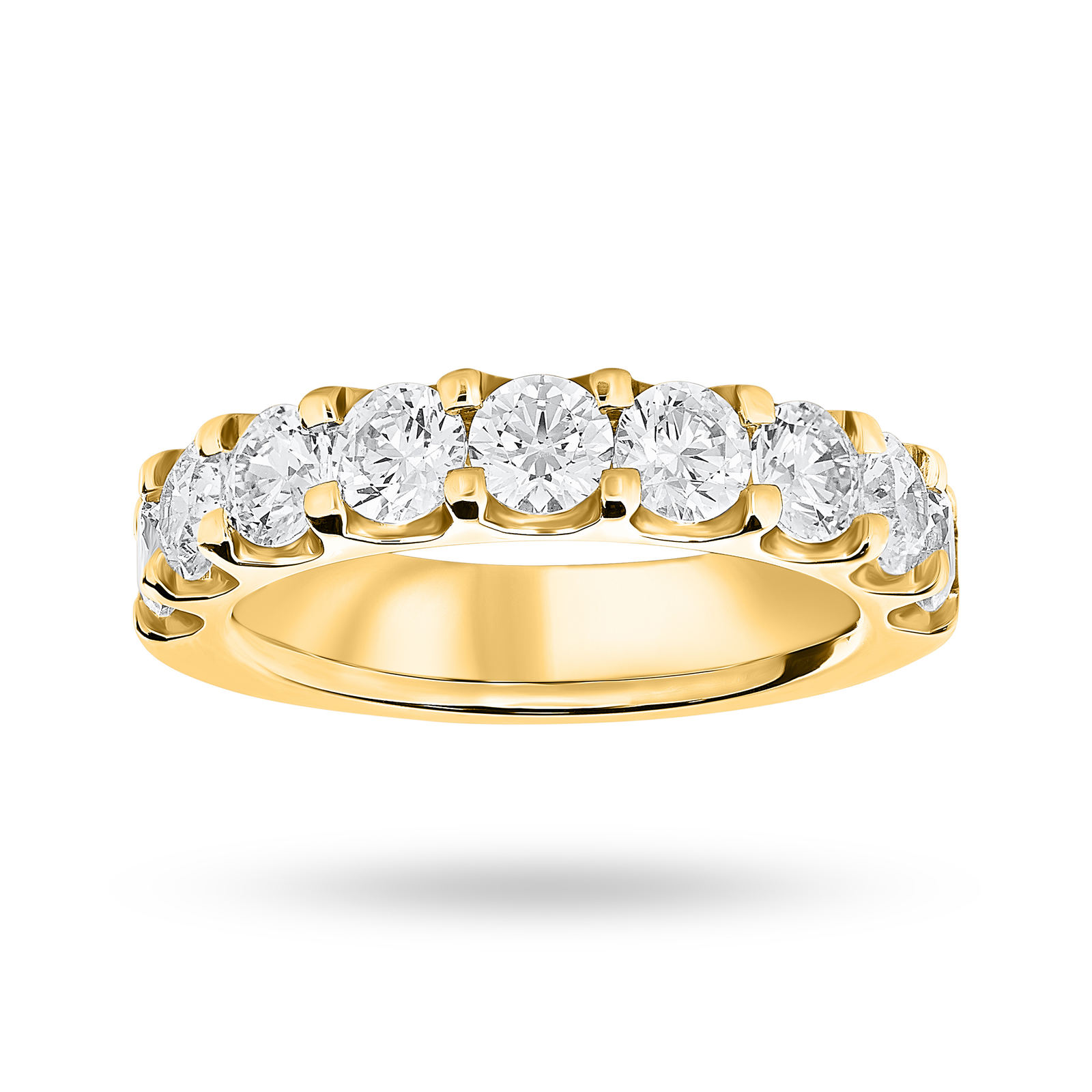 18 Carat Yellow Gold 2.10 Carat Brilliant Cut Half Eternity