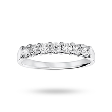 Platinum 0.50 Carat Brilliant Cut Under Bezel Half Eternity Ring