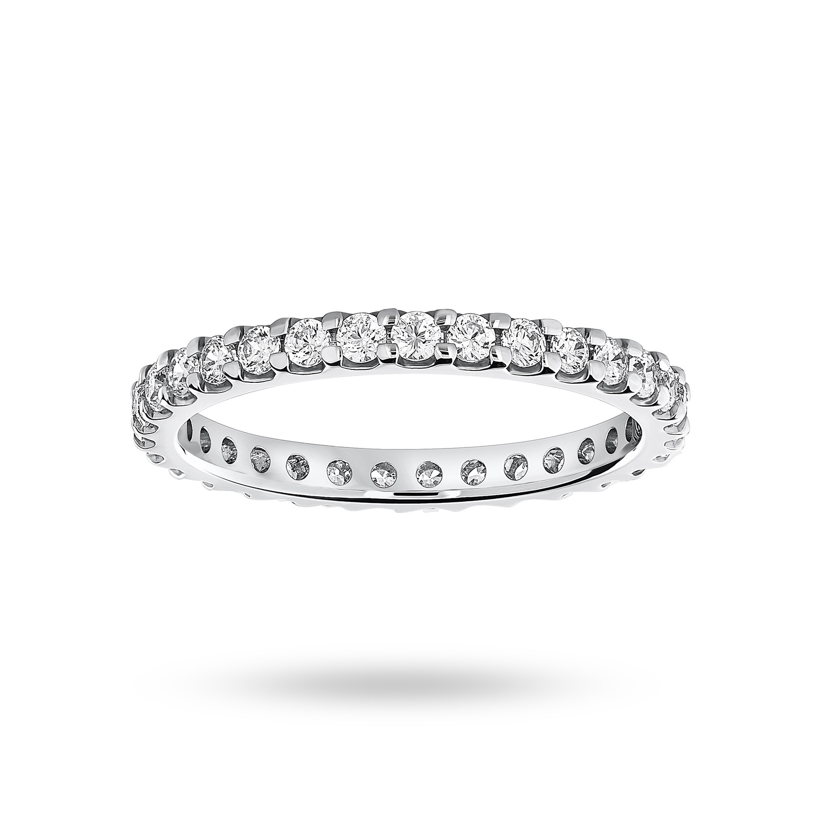 Platinum 0.75 Carat Brilliant Cut Claw Set Full Eternity Ring