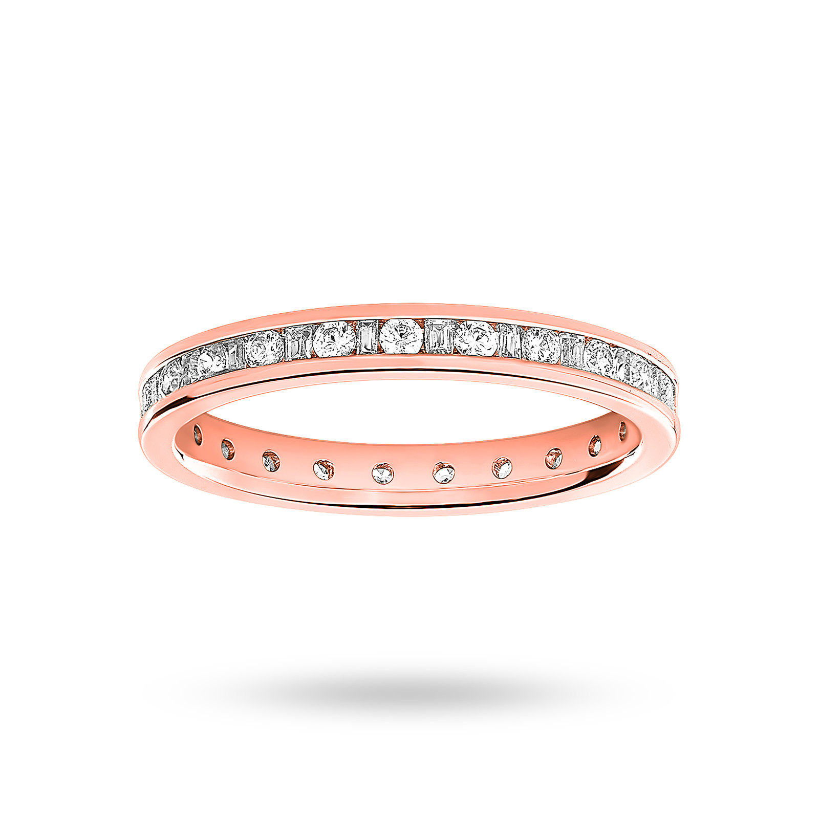 9 Carat Rose Gold 0.50 Carat Dot Dash Channel Set Full Eternity Ring