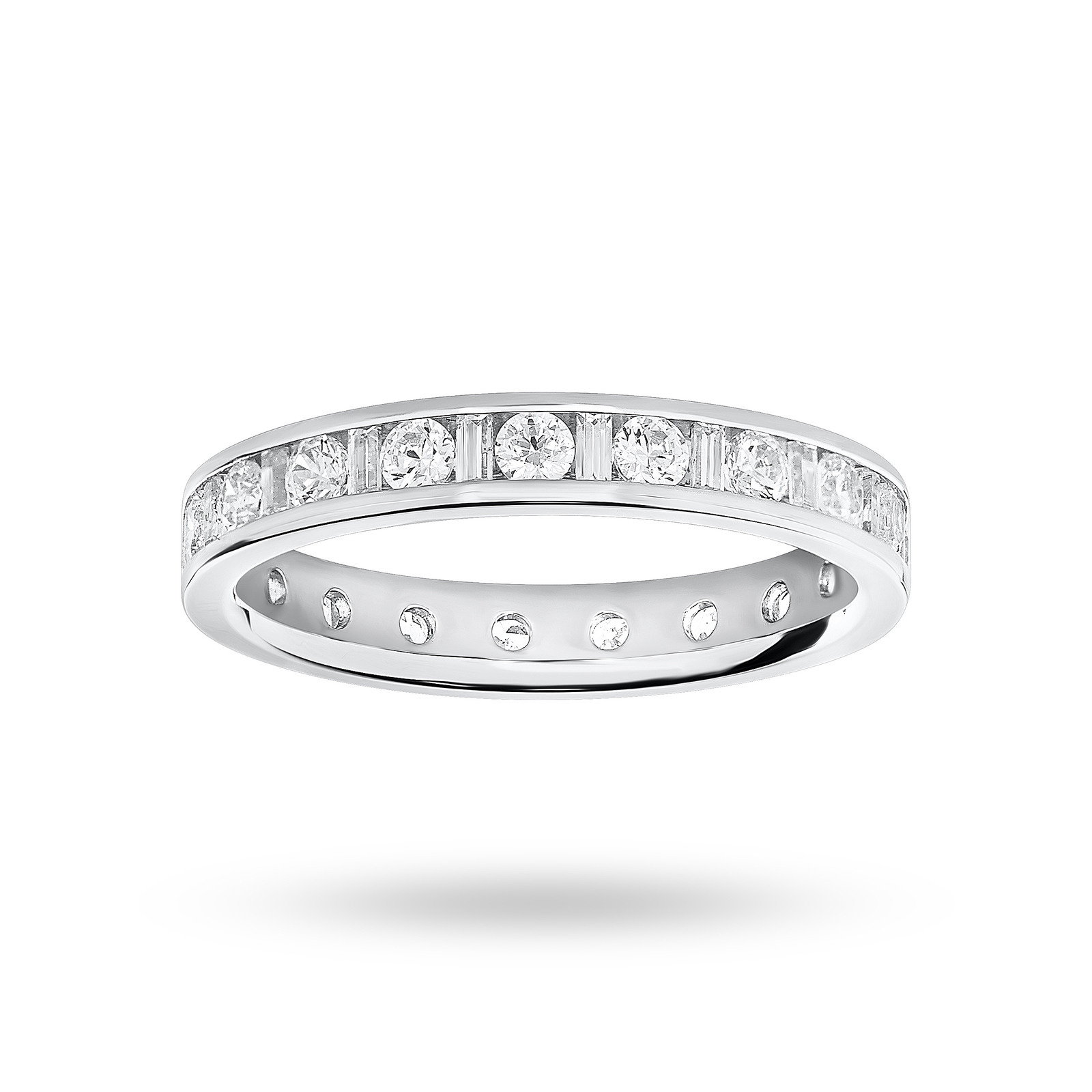 Platinum 1.00 Carat Dot Dash Channel Set Full Eternity Ring