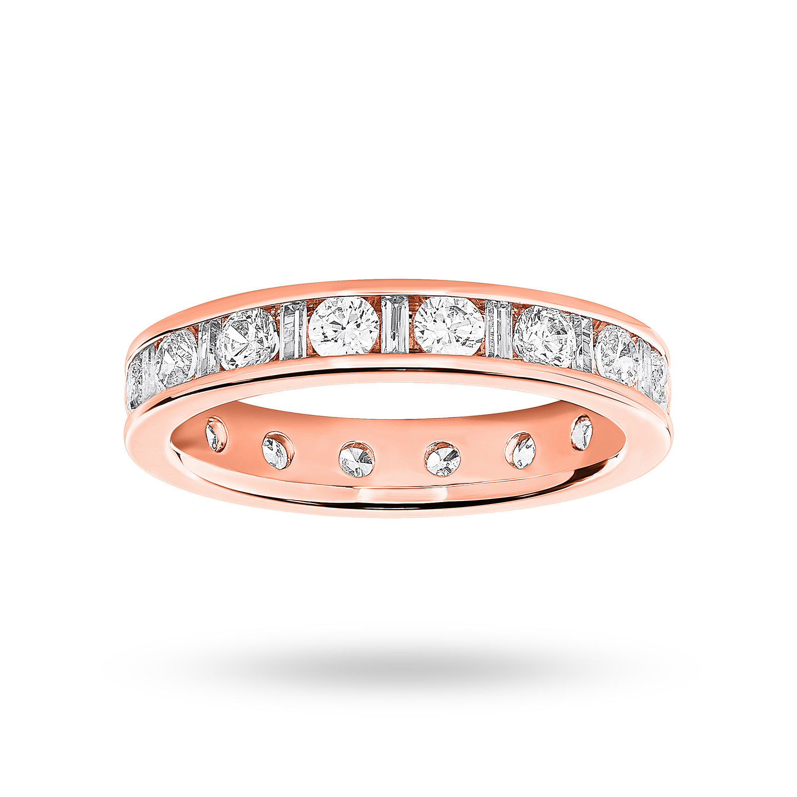 9 Carat Rose Gold 1.50 Carat Dot Dash Channel Set Full Eternity Ring
