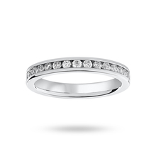 Platinum 0.75 Carat Brilliant Cut Channel Set Full Eternity Ring