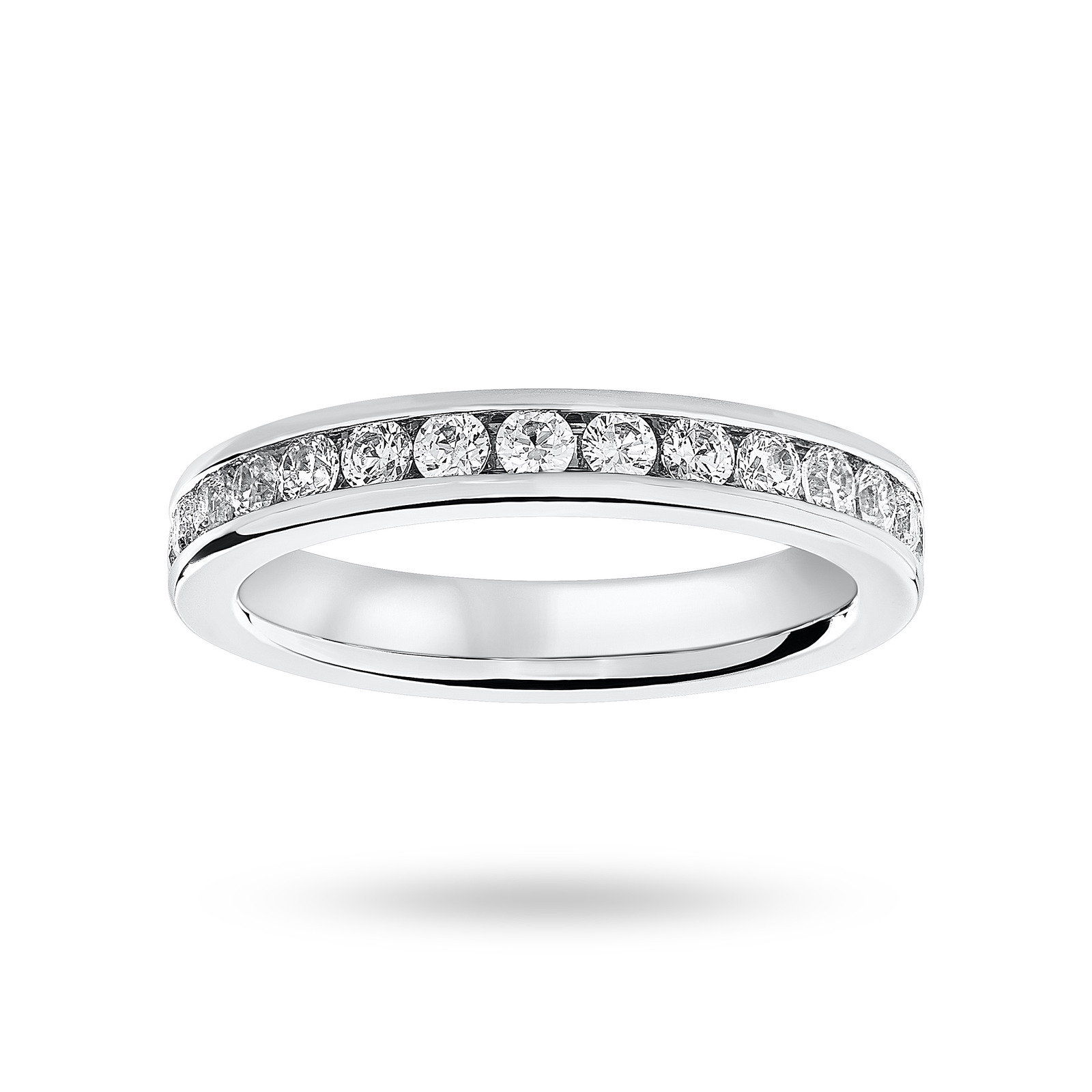 Platinum 1.00 Carat Brilliant Cut Channel Set Full Eternity Ring