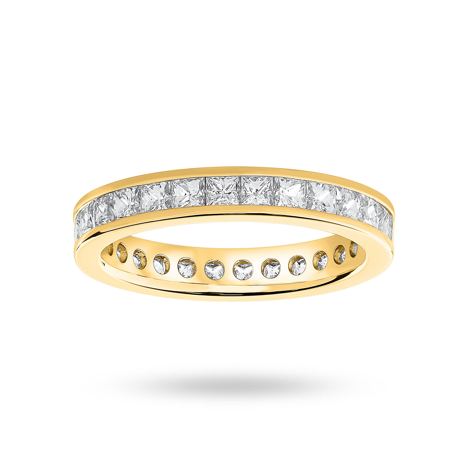 Yellow Gold Princess Cut Channel Set Rings Uk