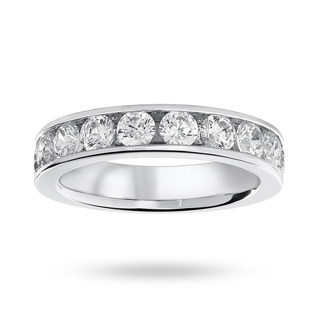 18 Carat White Gold 1.50 Carat Brilliant Cut Half Eternity Ring