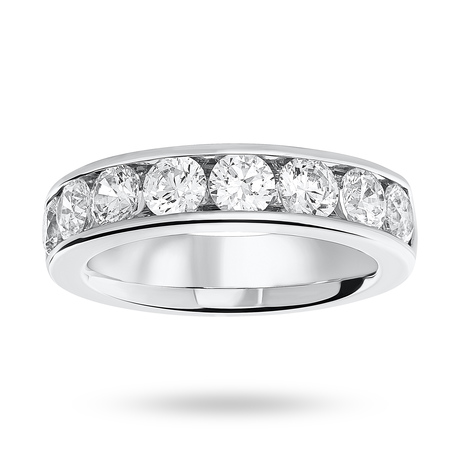 18 Carat White Gold 1.85 Carat Brilliant Cut Half Eternity Ring