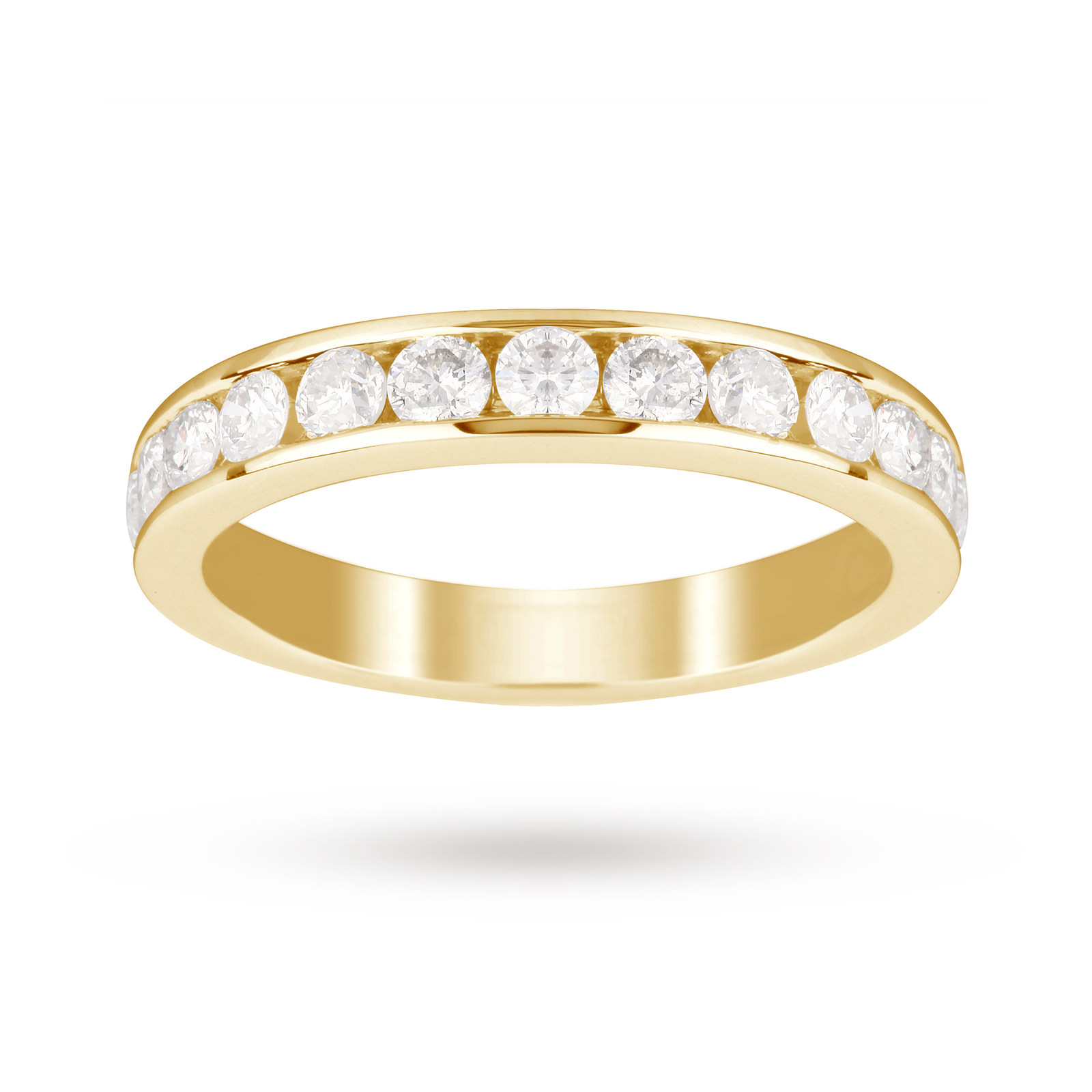 18ct Yellow Gold 1.00 Carat Total Weight Eternity Ring- Ring Size M