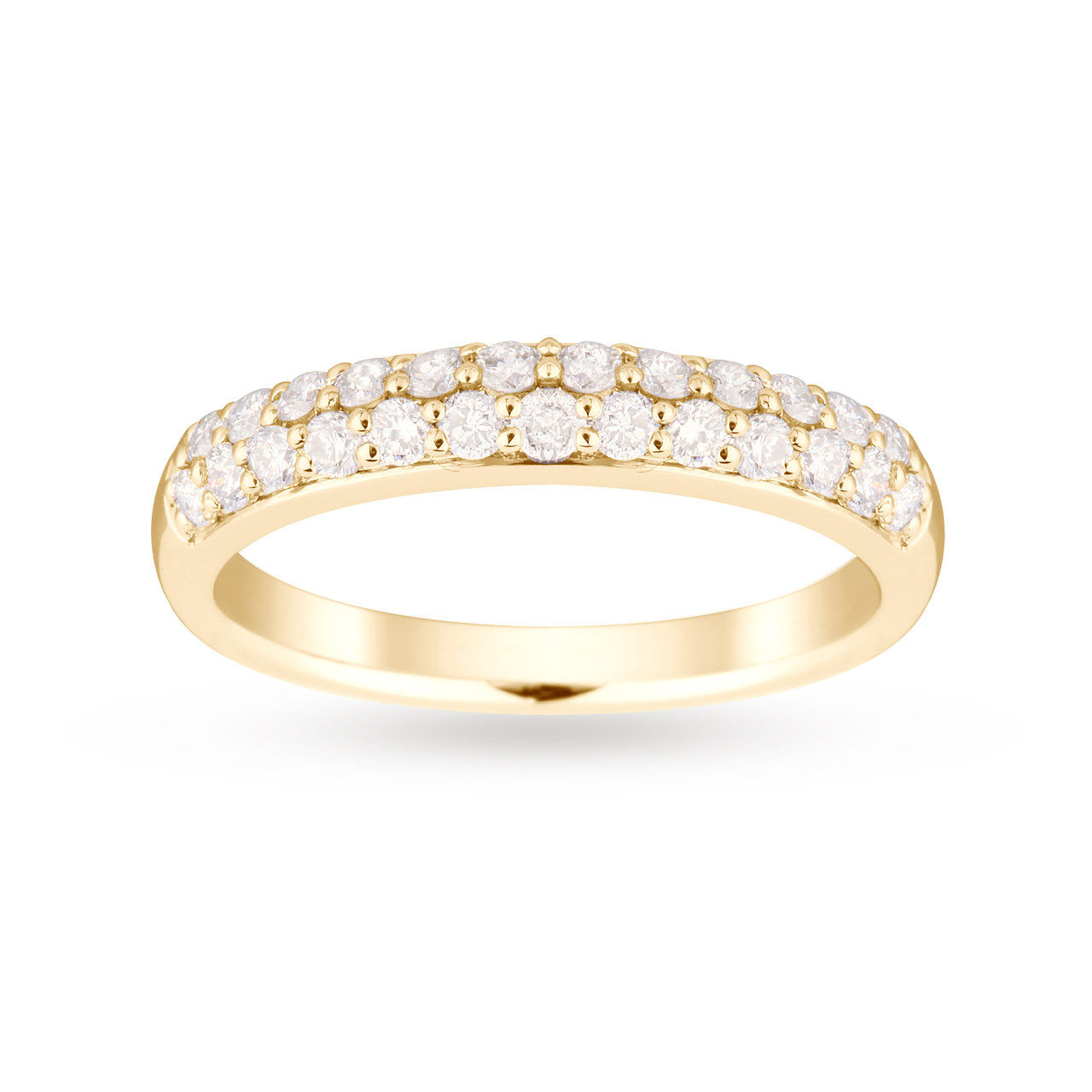 9ct Yellow Gold 0.50 Carat Total Weight Eternity Ring - Ring Size L