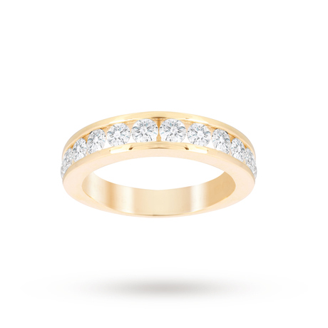 Brilliant Cut 1.00ct Channel Set Half Eternity Ring In 9ct Yellow Gold