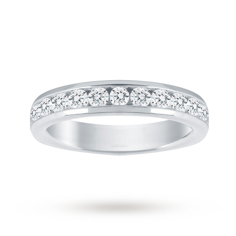 18ct White Gold 1.00cttw Diamond Half Eternity Ring - M06506023