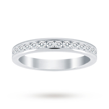18ct White Gold 0.50cttw Diamond Half Eternity Ring