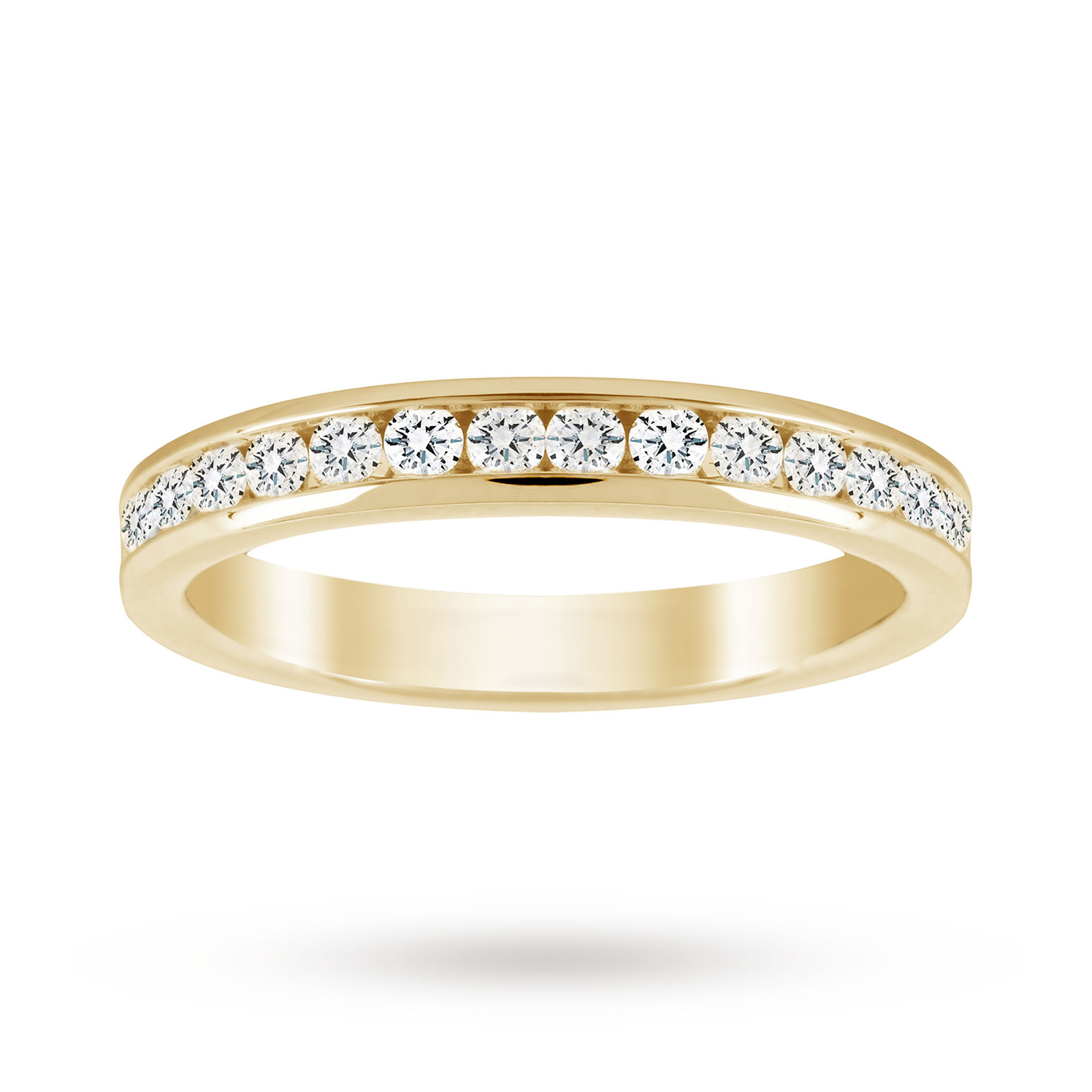 18ct Yellow Gold 0.50cttw Diamond Half Eternity Ring - Ring Size K