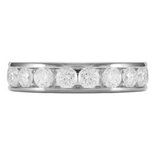 18ct White Gold 1.00ct Brilliant Cut 10 Stone 88 Facet Diamond Eternity Ring