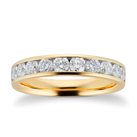 18ct Yellow Gold 0.75ct Brilliant Cut Goldsmiths Brightest Diamond Eternity Ring