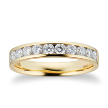 18ct Yellow Gold 0.50ct Brilliant Cut 10 Stone 88 Facet Diamond Eternity Ring